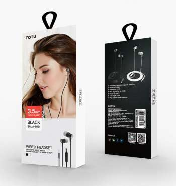 TOTU DESIGN WIRED HEADSET BLACK